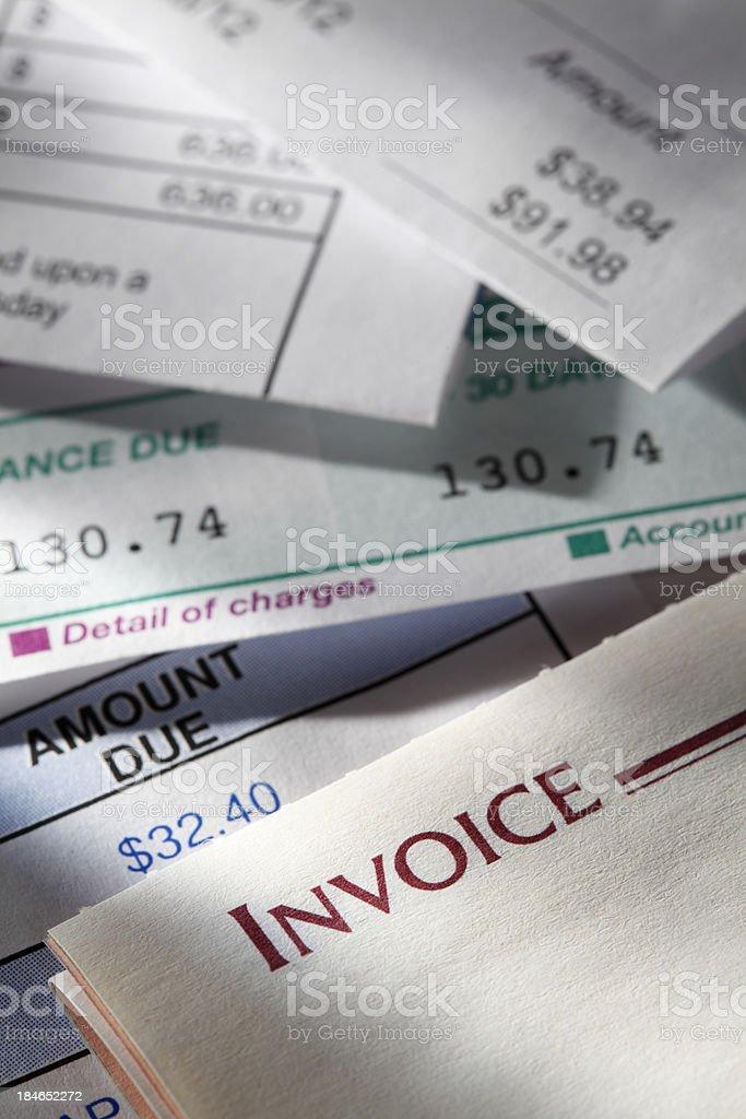 Invoice royalty-free stock photo