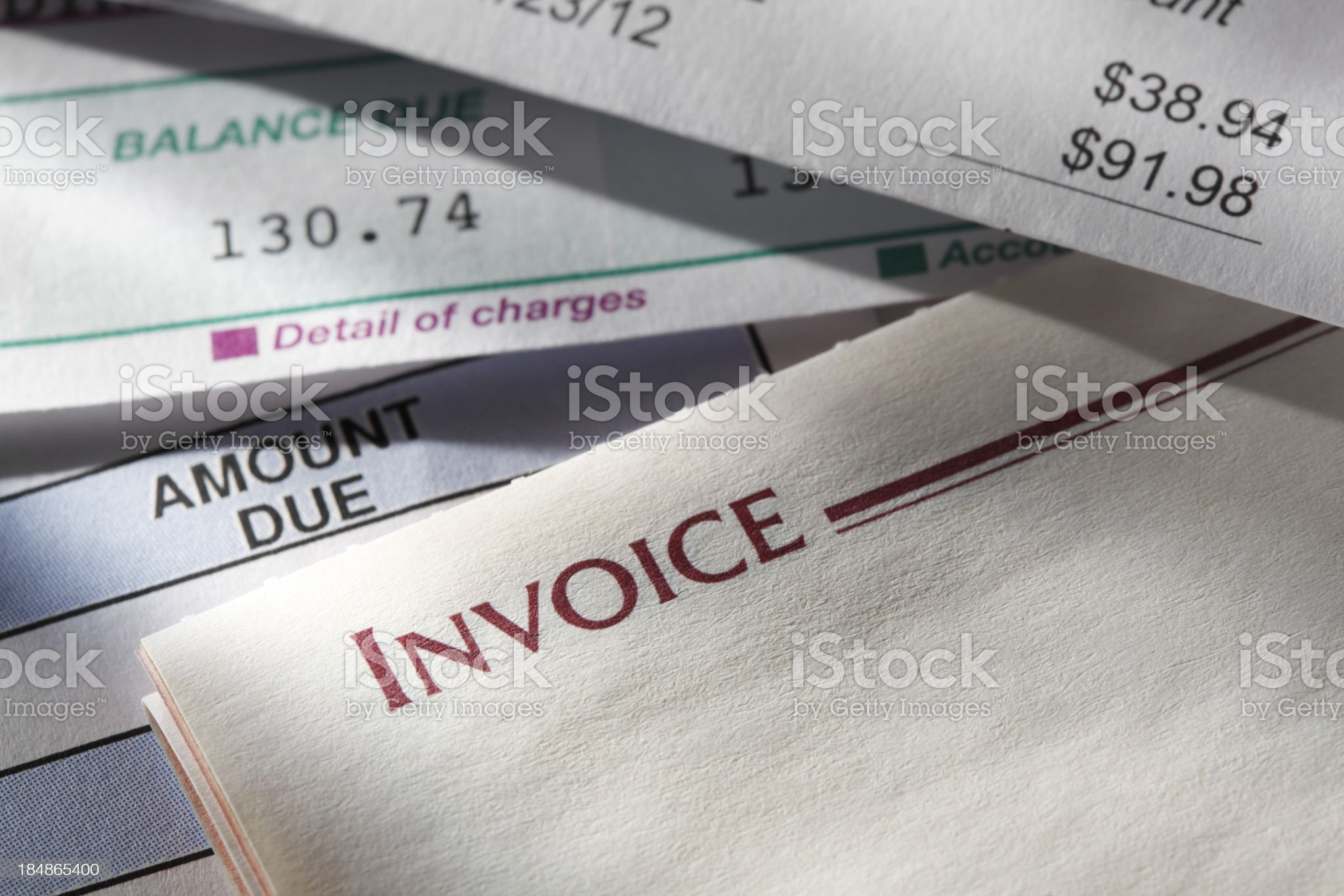Invoice royalty-free stock photo