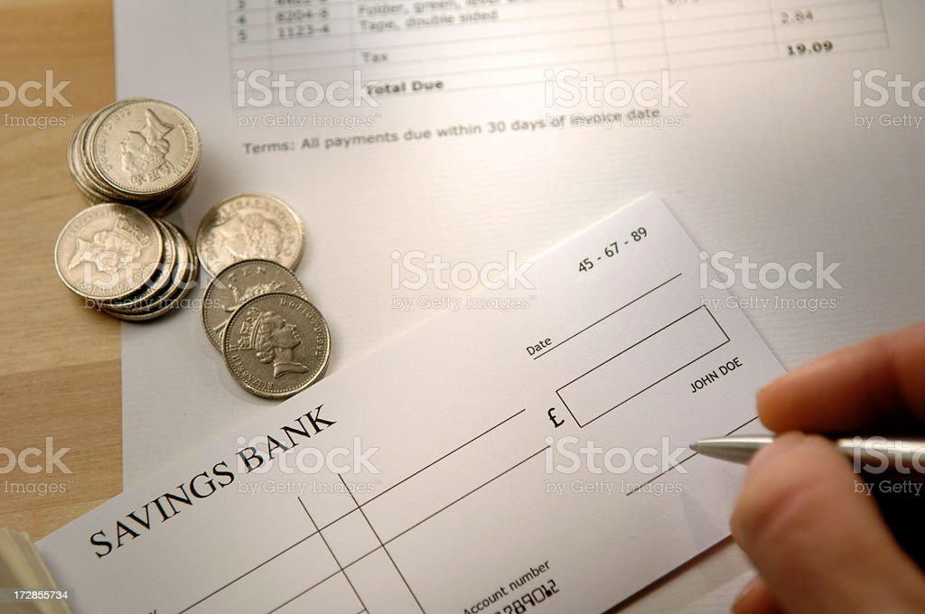 invoice series royalty-free stock photo