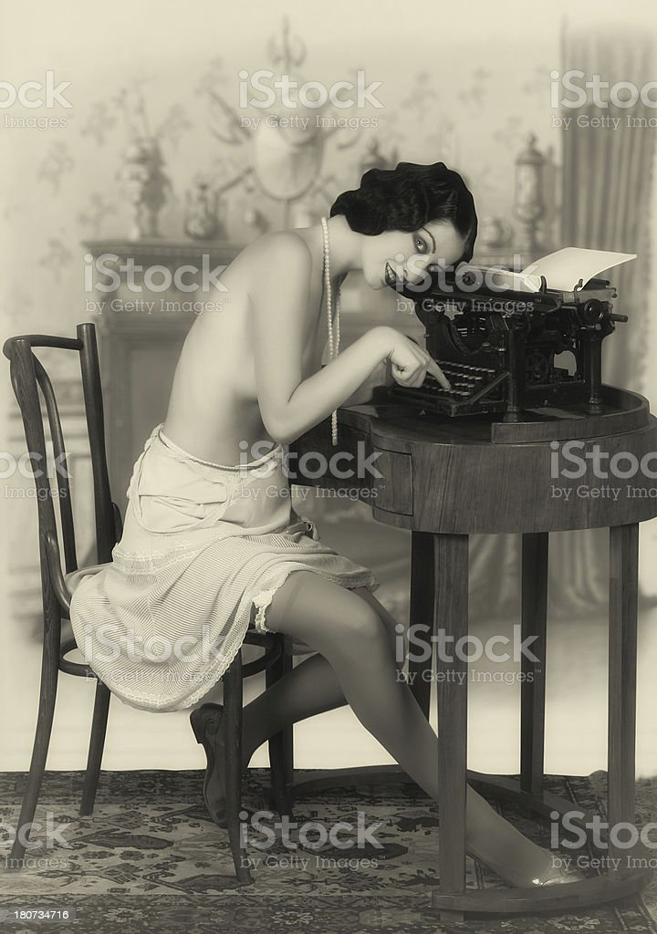 Invoking the muse royalty-free stock photo