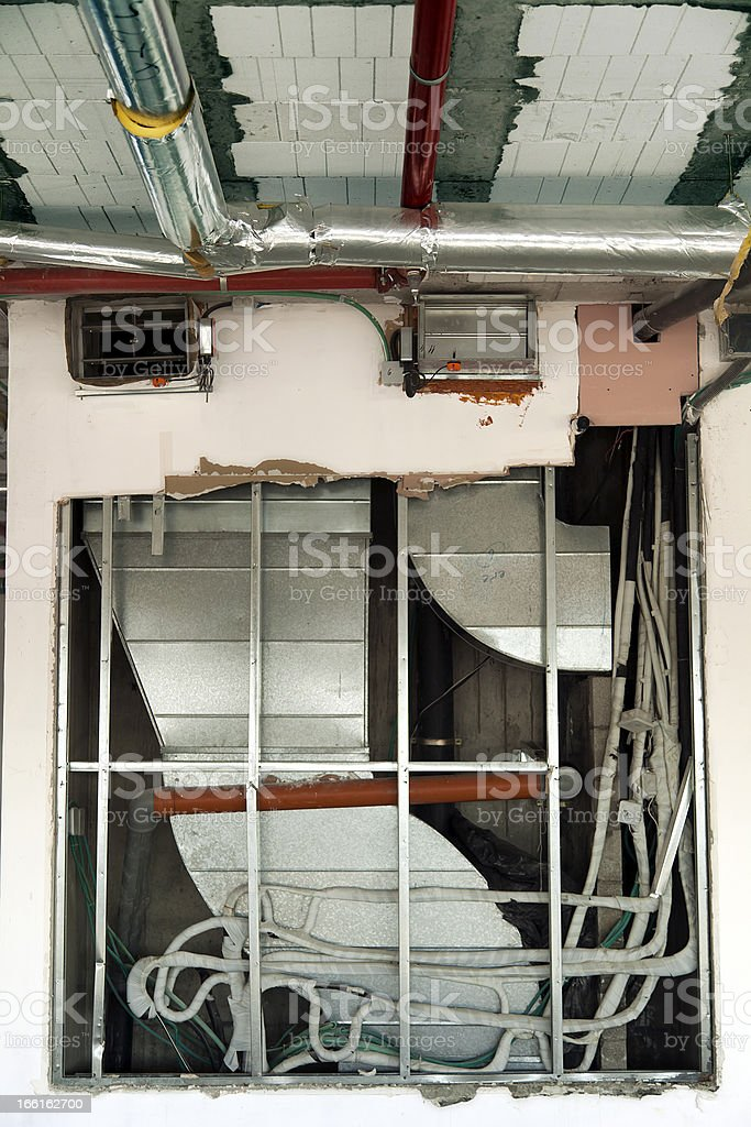 In-Wall Air Ducts stock photo