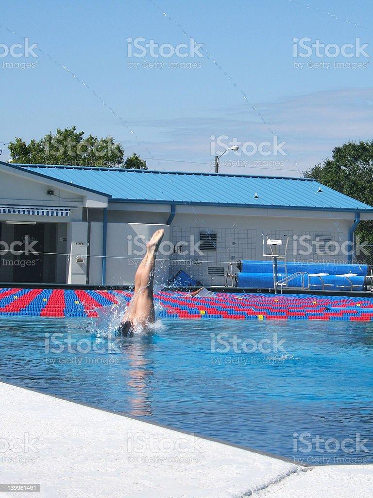 Inward Dive royalty-free stock photo