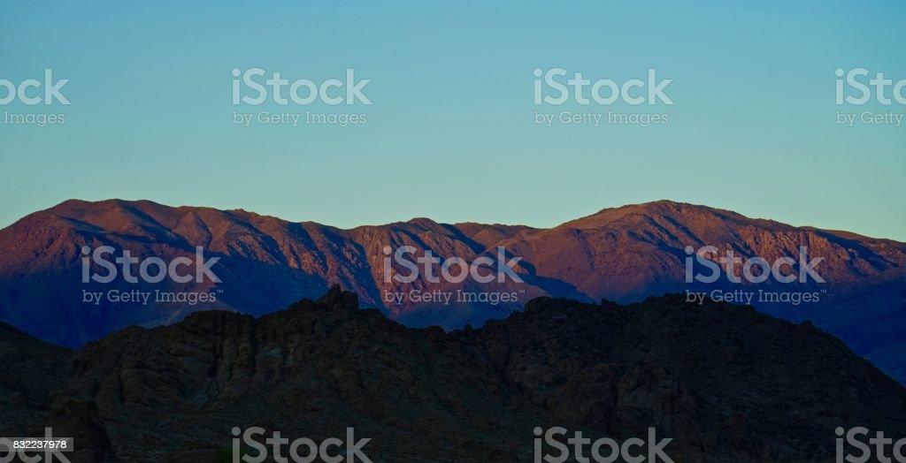 Inyo Mountains Fire stock photo