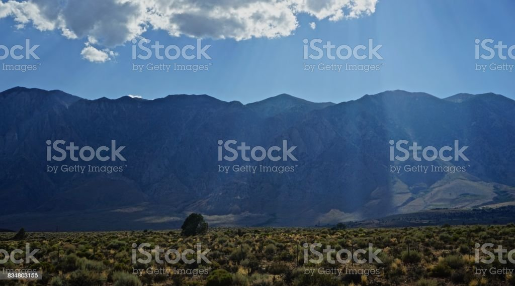 Inyo National Forest Sunbeams stock photo