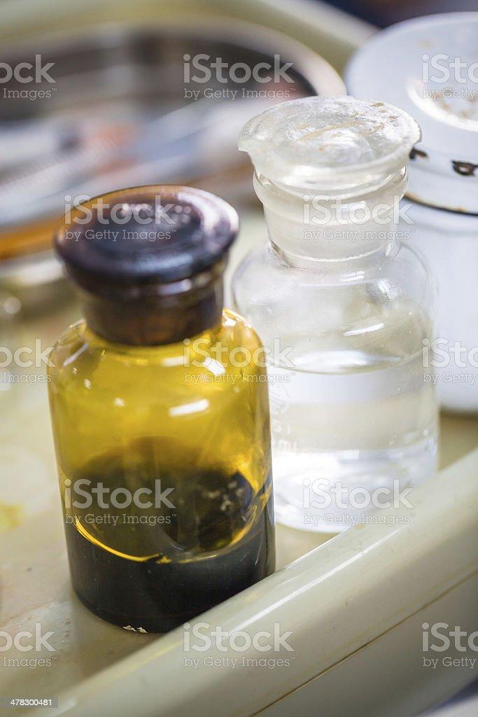 iodine bottle in hospital royalty-free stock photo