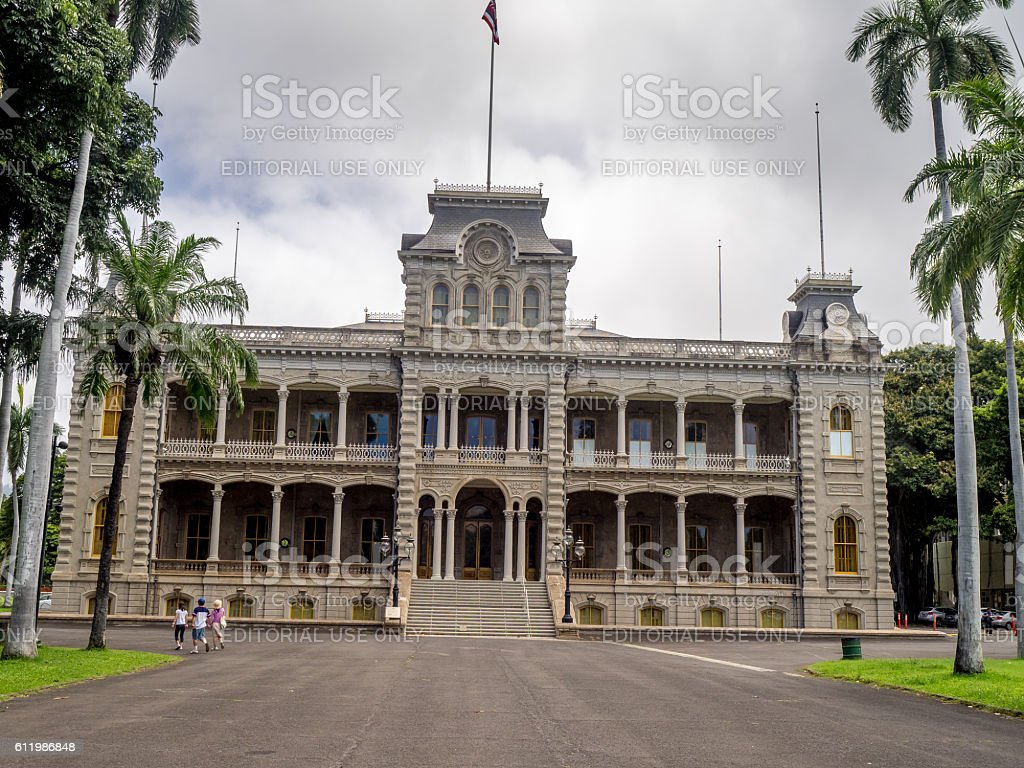 Iolani Palace, Honolulu, Hawaii stock photo