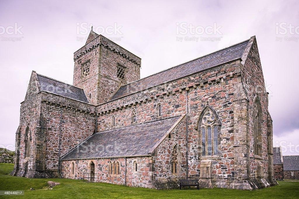 Iona Abbey stock photo