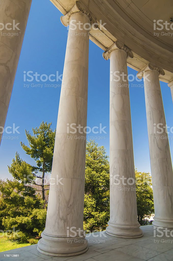 ionic architectural columns details royalty-free stock photo