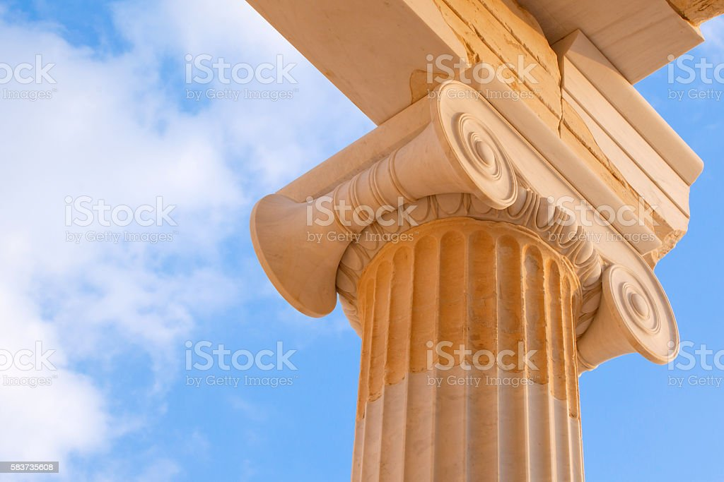 Ionic capital detail stock photo