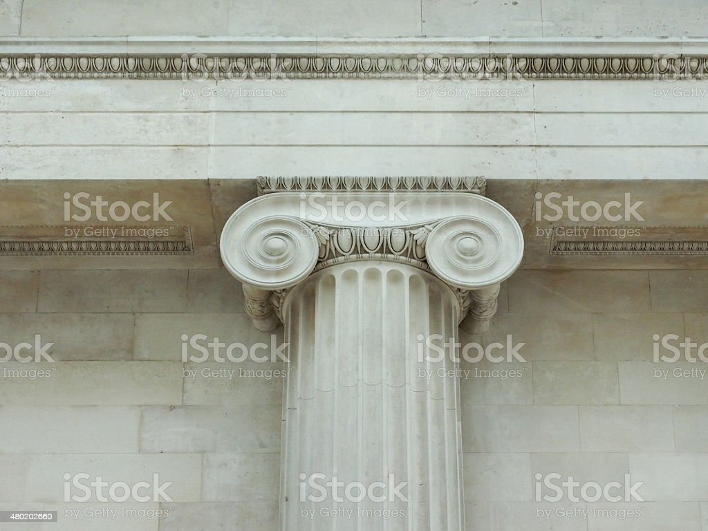 Ionic capital stock photo