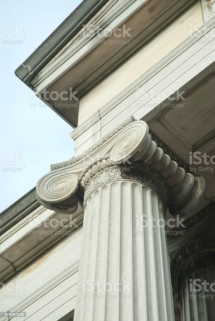 Ionic Capitol stock photo