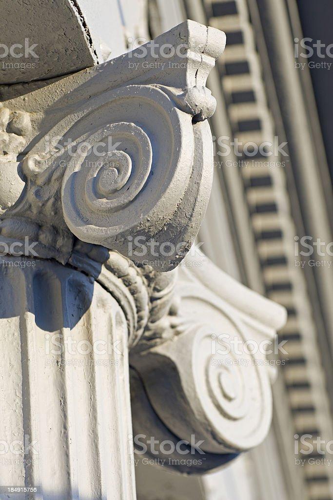 Ionic Column Cap Vertical royalty-free stock photo