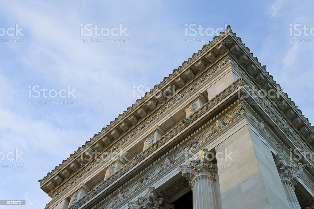 ionic column in Rome Italy stock photo