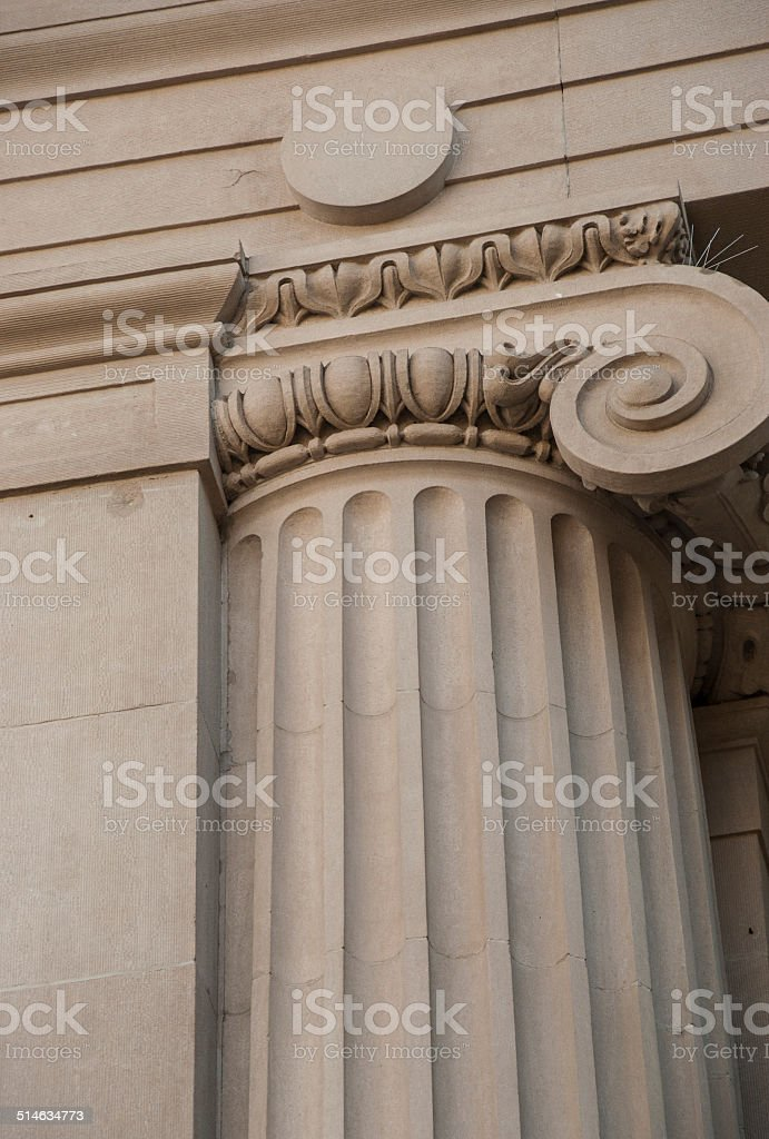 Ionic Column on Building stock photo