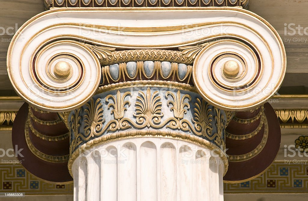 Ionic column royalty-free stock photo