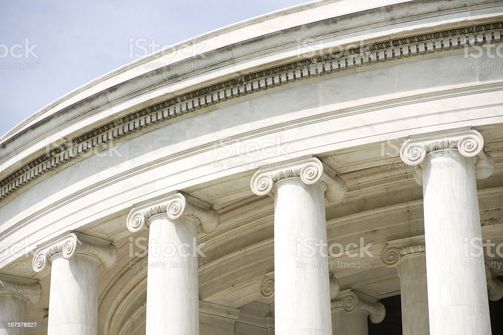 Ionic Columns at the Jefferson Memorial royalty-free stock photo