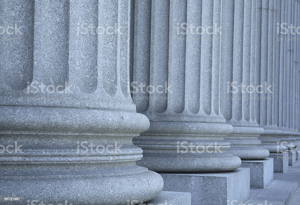 Ionic columns forming a portico outside the Supreme Court royalty-free stock photo