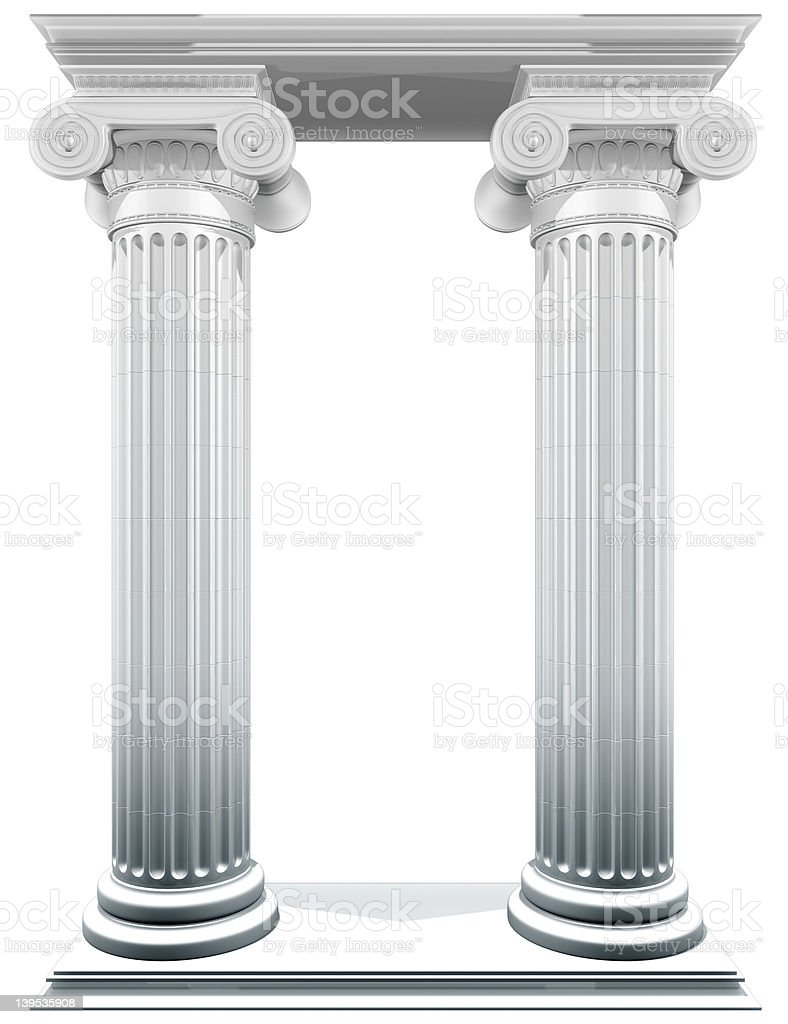 Ionic Columns Frame royalty-free stock photo