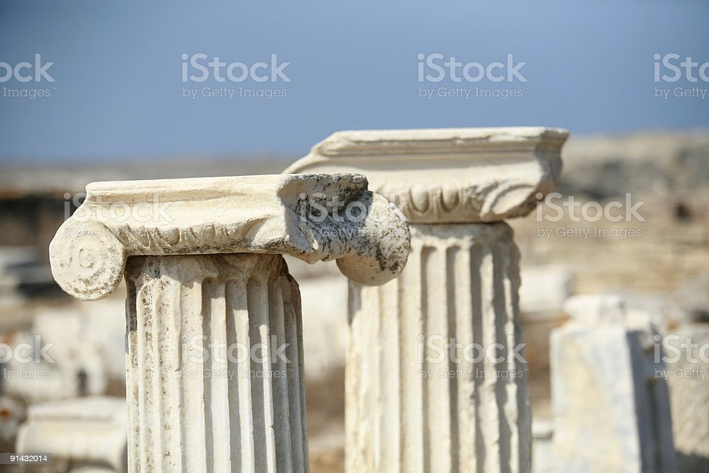 ionic columns royalty-free stock photo