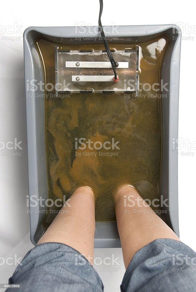 Ionic Foot Bath stock photo