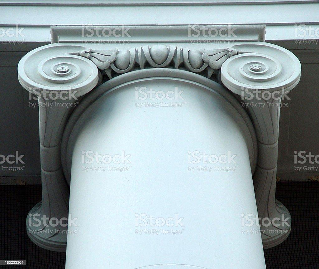 Ionic pillar royalty-free stock photo