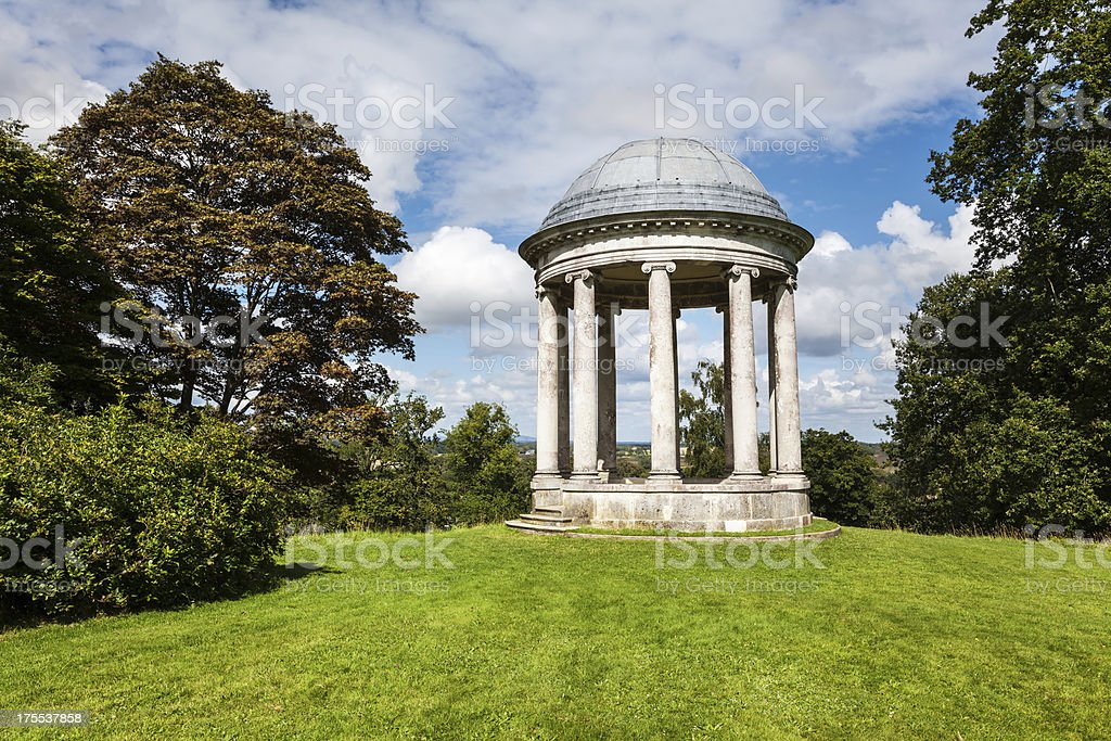 Ionic Rotunda in Sussex, England stock photo