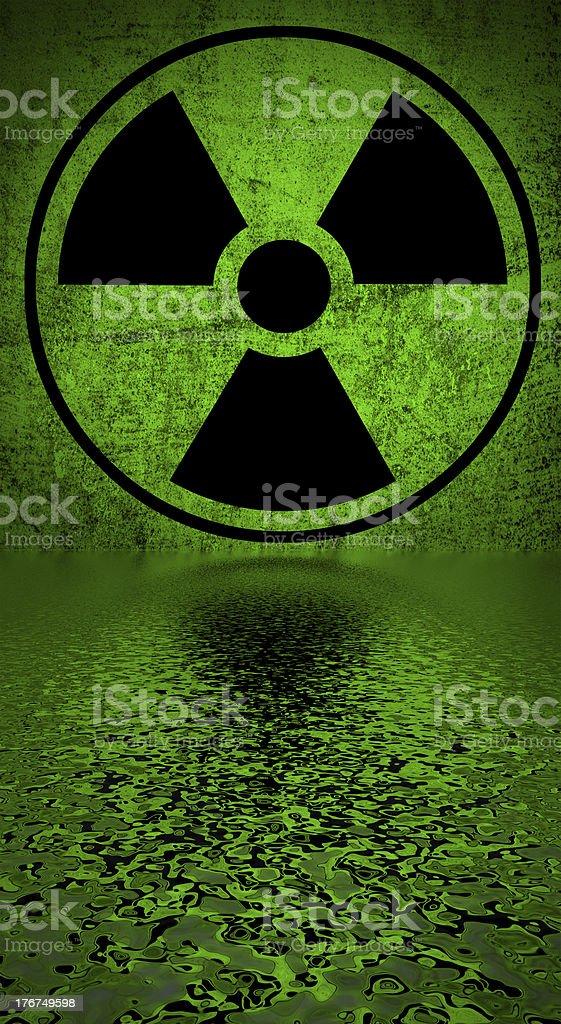 Ionizing radiation hazard symbol. stock photo