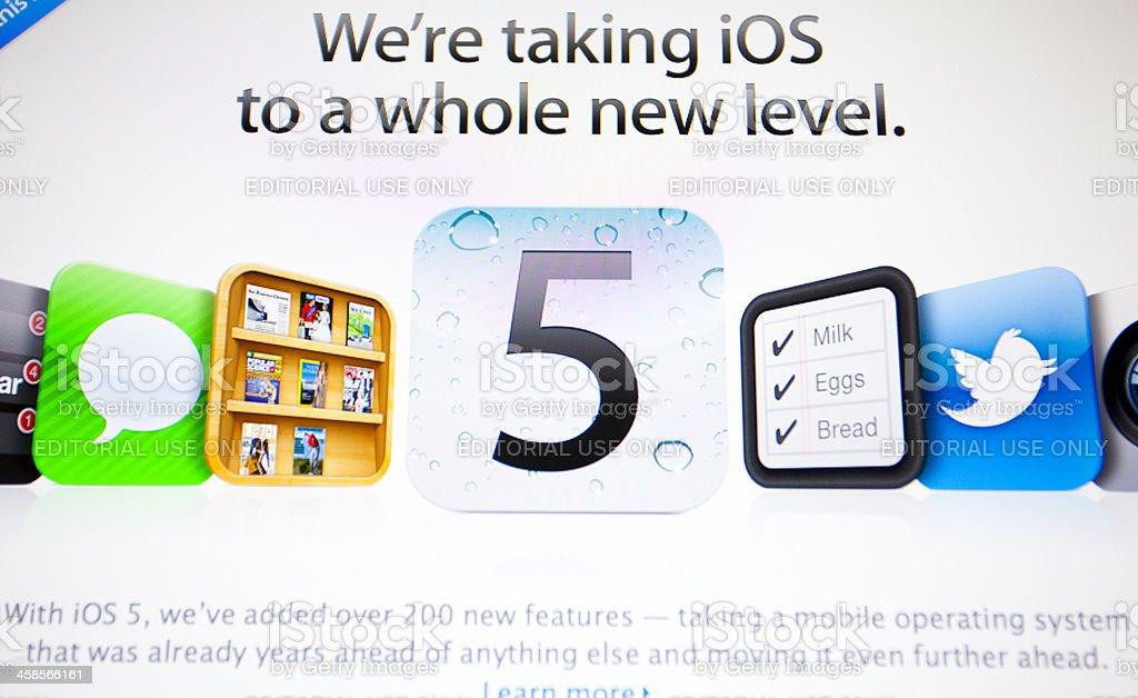 iOS 5 royalty-free stock photo