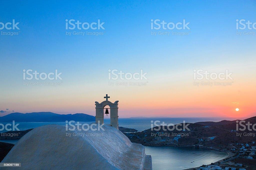 Ios island stock photo