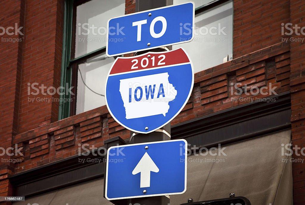 Iowa 2012 Primary Election Sign royalty-free stock photo