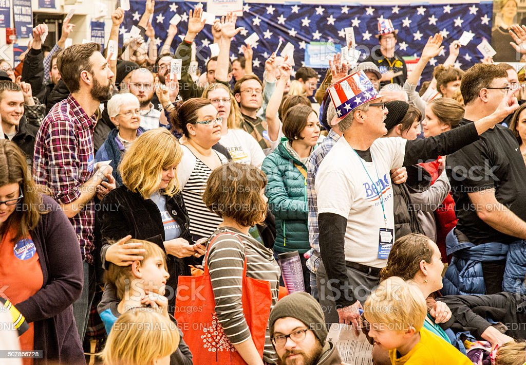 2016 Iowa Caucus In Iowa City stock photo
