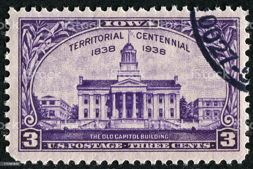 Iowa Centennial Stamp stock photo