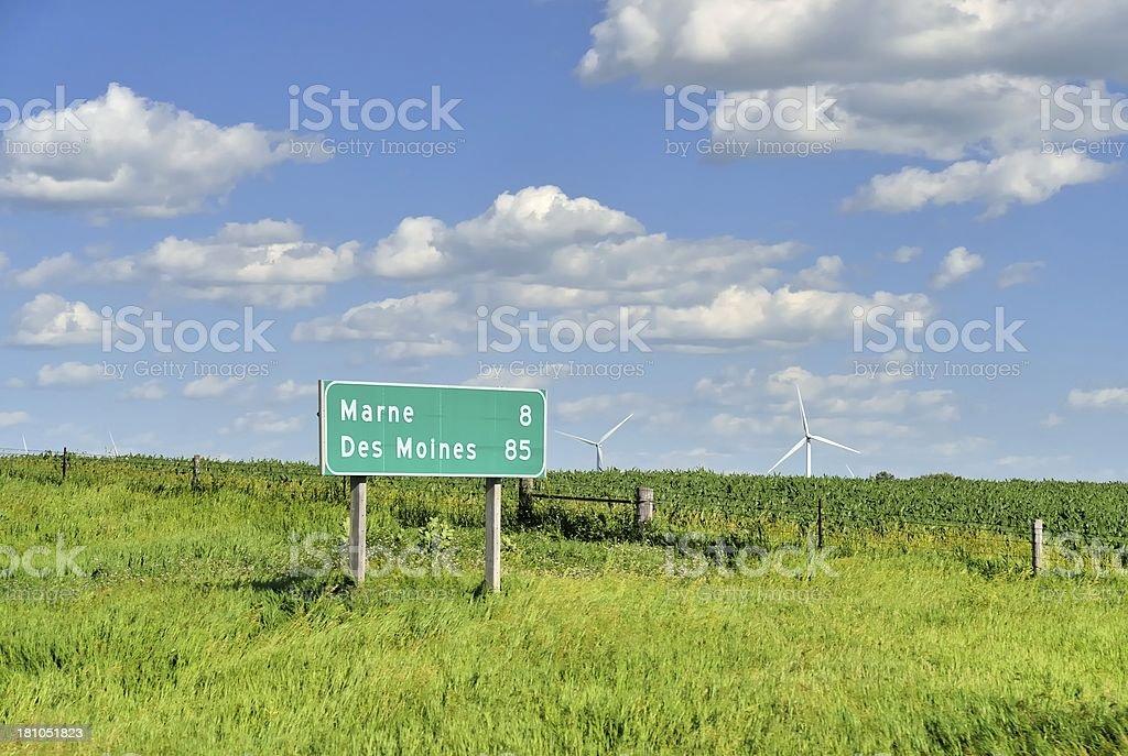 Iowa Landscape stock photo