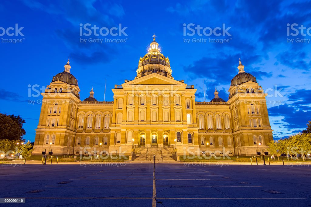 Iowa State Capitol Building - Back stock photo