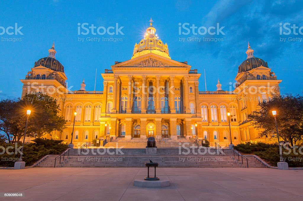 Iowa State Capitol Building - Front stock photo