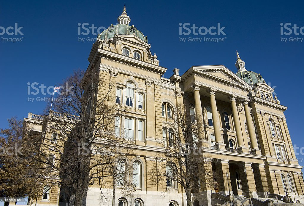 Iowa State Capitol Building stock photo
