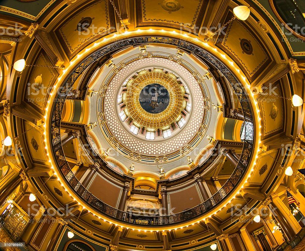 Iowa State Capitol Building stock photo