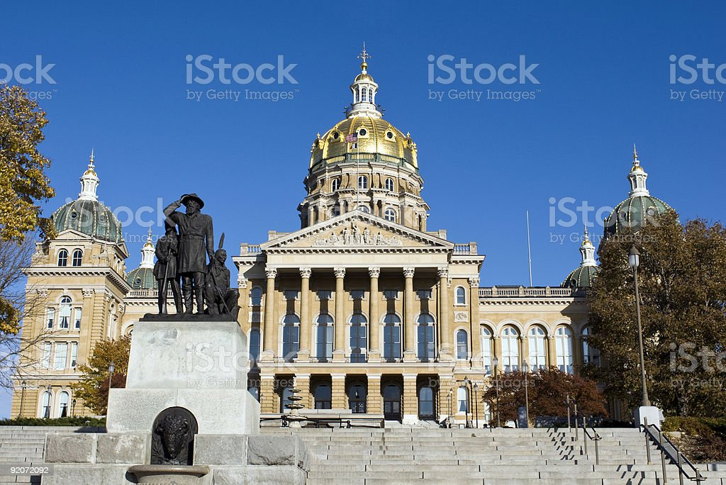 Iowa State Capitol Building royalty-free stock photo