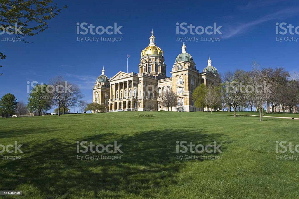 Iowa - State Capitol in Des Moines royalty-free stock photo