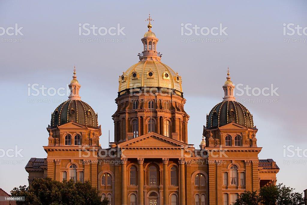 Iowa state capitol royalty-free stock photo