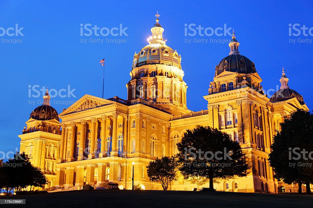 Iowa State Capitol stock photo