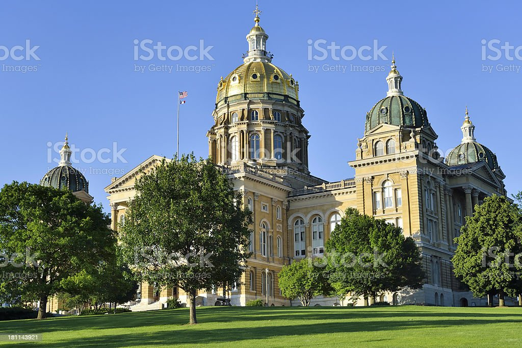 Iowa State Capitol royalty-free stock photo