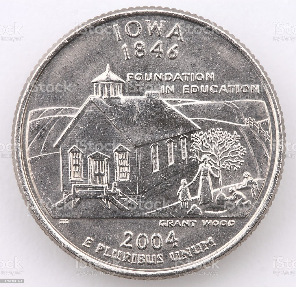 Iowa State Quarter royalty-free stock photo