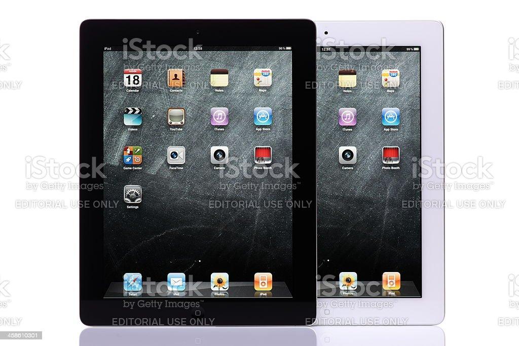iPad 2 black and white stock photo