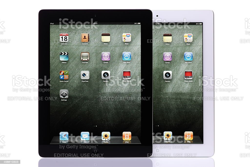 iPad 2 black and white royalty-free stock photo