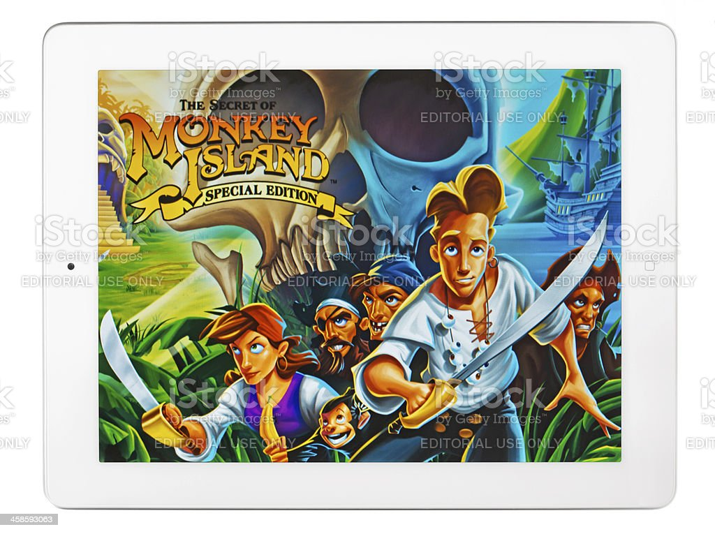iPad 2 with Adventure Game royalty-free stock photo
