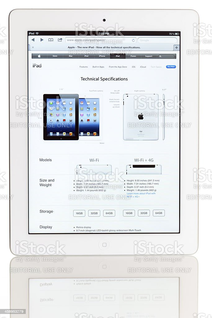 iPad 3 royalty-free stock photo