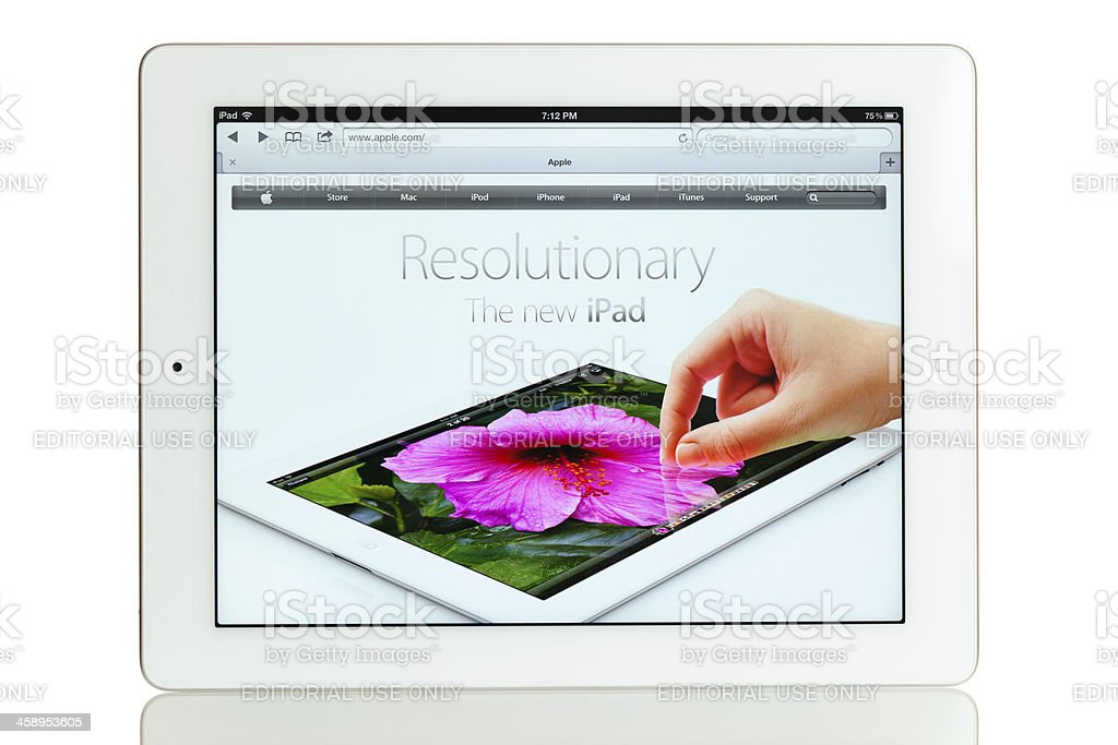 iPad 3 stock photo
