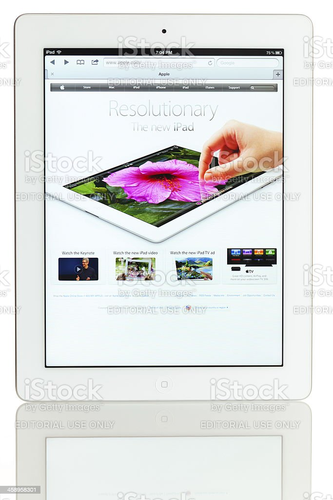 iPad 3 stock photo