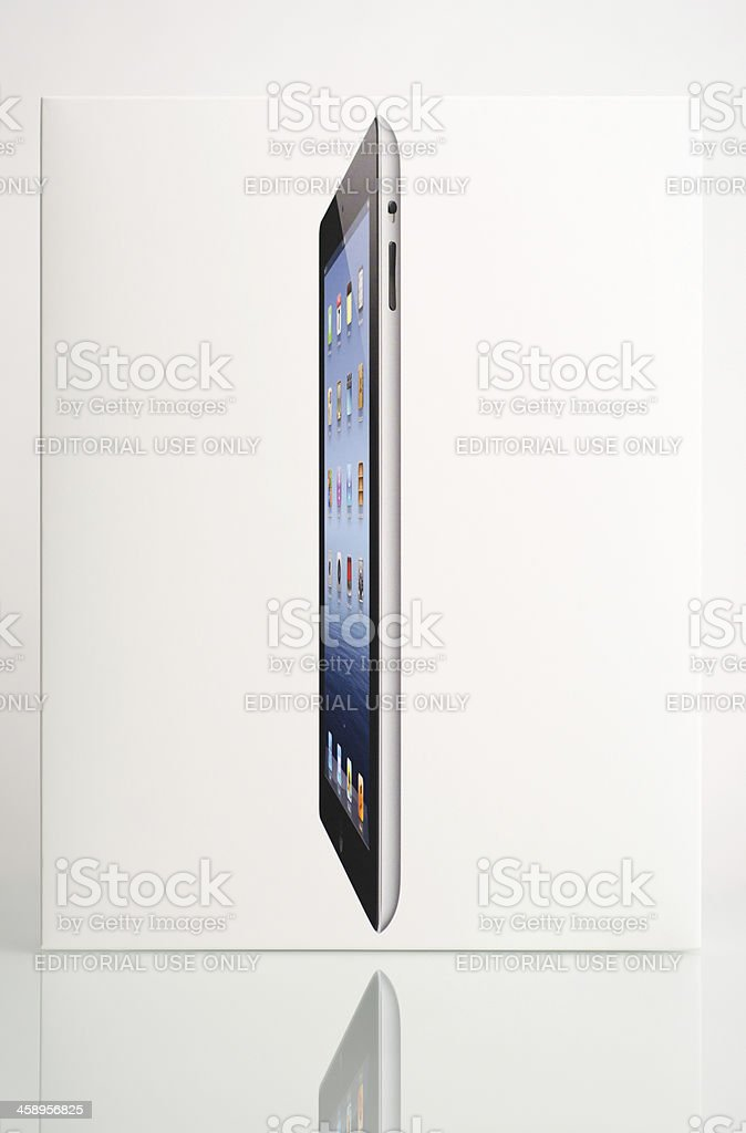 iPad 3 Product Packaging royalty-free stock photo